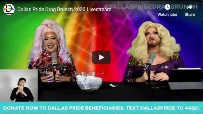 Dallas Pride Drag Brunch on YouTube