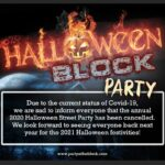 2020 Halloween Street Party cancelled